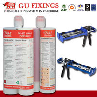 Building epoxy concrete glue with dispensing guns