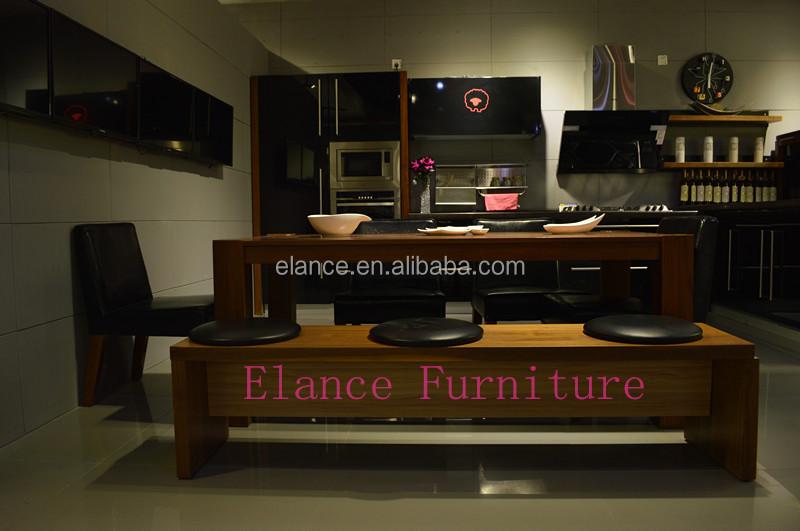 black elegant glossy laquer kitchen cabinet
