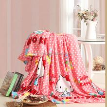 Newest design Cute Pink Cat Printing children Sleep blanket