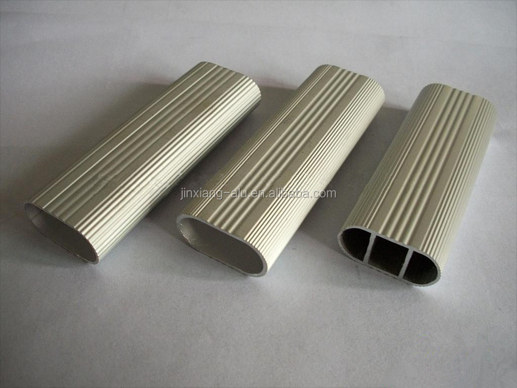 Aluminum tube extruded oval