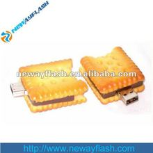 Large capacity flash drive interesting biscuits shape