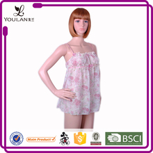 New Arrival Custom Made Young Lady Flower Print Hot Girl Sexy Camisole