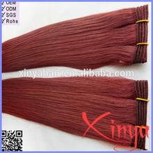 Wholesale Free weave hair packs color 99j hair weave red braiding hair