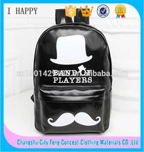 kore stili moda pu okul çantası