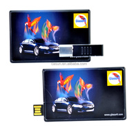 custom full color printing credit card usb for promotional gift