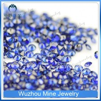 Rough oval cut synthetic blue sapphire stones loose gemstone