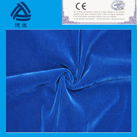 factory price 5% off 260 gsm soft hand velvet lace fabric nylon flock fabric for garments from jiaxing textile