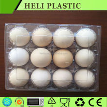 12 holes 2 design plastic transparent egg tray made in China