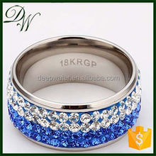 Wholesale Unique Fine white Jewelry Rings blue diamond ring, glass engagement ring