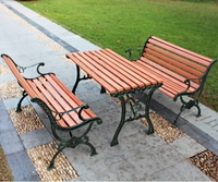 Cast iron water proof outdoor public leisure cheap curved park bench