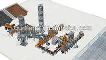 Automatic block production line with curing rack and brick machine