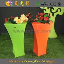 multicolored PE material plastic garden furniture show pieces for home decoration