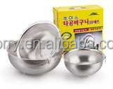 Punching stainless steel wash and drain basket of fruits and vegetables with earrings handle