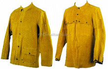 High quality A grade cowhide split leather welding jacket and safety leather welding wear and clothing for welder