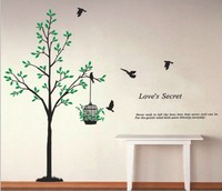 Green Tree Vine Branch Removable Wall stickers Decor Decal Sticker