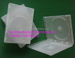 20mm matte Clear double dvd case with smooth Film