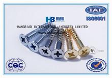 Professional Factory Certified ISO 9001:2008, wood screws ,B.S.1210 Slotted flat Head wood Screws