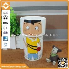 Porcelain stacking coffee mug