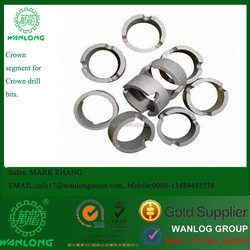 China Top Wanlong Crown core bits segment for drilling granite, concrete and others, it is for construction purpose.