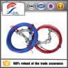 pet tie out dog cable bule and red