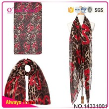 Love Leopard Voile Scarf