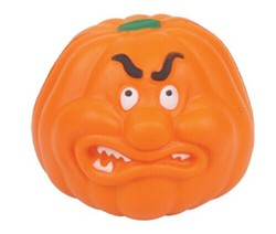 Gifts and premiums angry pumpkin anti stress ball soft pu foam bounce crazy toys for promotion