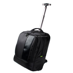 New designer Polyester trolley backpack,shopping travel luggage trolley bag,wholesale wheeled market bag