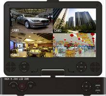 CCTV DVR Remote Viewing 10 inch Screen Full HD 1080P