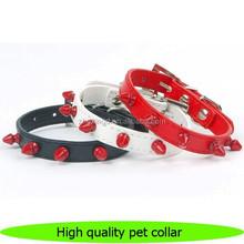 Fashion design PU leather dog collares, new item pet collares