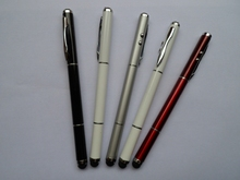 4 in 1 Stylus Touch multi-function pens With LED light,Laser Light,stylus pens and ballpoint pens