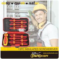 13pcs VDE insulated screwdriver set 1000V VDE test pen chaves de fenda isolada slotted and philips