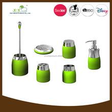 Durable hot-sale hotel luxury green bathroom accessories set
