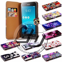 For Asus Zenfone 5 case, book style wallet printed PU leather flip cover case for Asus Zenfone 5