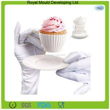 Disegno della novità attrezzi della torta tazza di tè del silicone a forma di muffa cup cake
