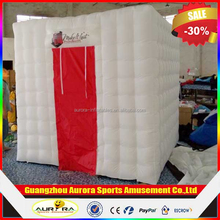 2.4m*2.4m*2.4m cheap inflatable photo booth inflatable 3D photo booth, inflatable square tent for advertising promotion