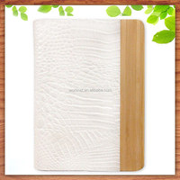 bamboo leather flip cover case for ipad air case with stand new 2015 product idea