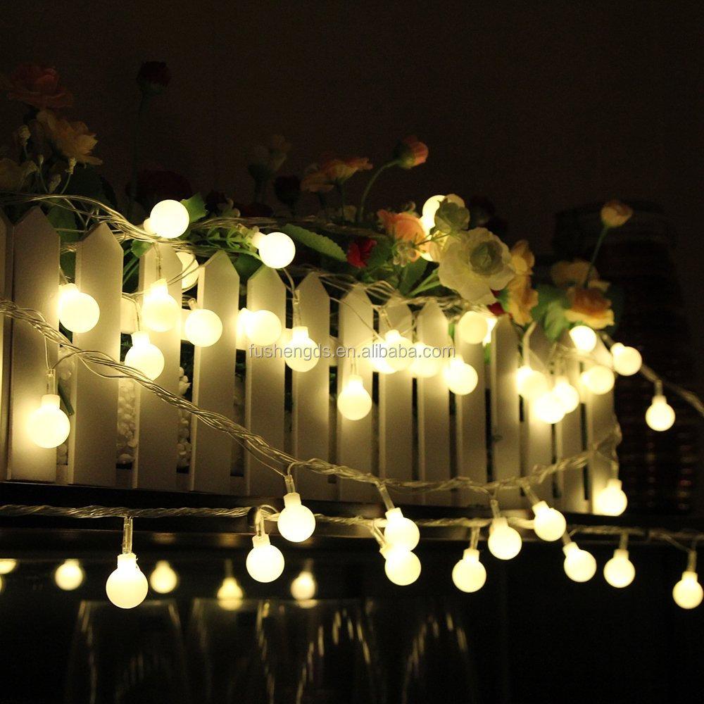 Outdoor Solar String Lights Fiber Optic Flower Fairy Lights For ...