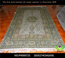 Dining room furniture rectangle pattern handmade persian carpet silk carpet