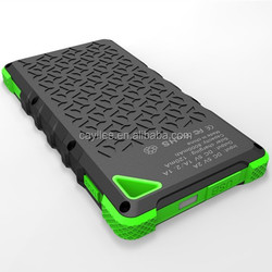 2015 new real full 8000mah waterproof solar power bank charger,power bank solar panel with led light