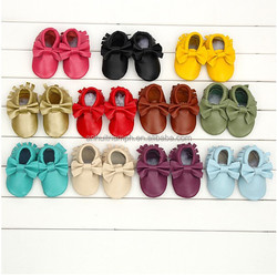 Genuine leather baby shoes,moccasin baby shoes