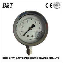 63mm 0-10bar bottom all stainless steel oil pressure gauge