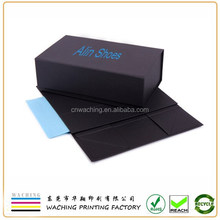 Luxury Branding Folding Black Shoe Box