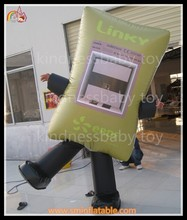 inflatable advertising bag moving cartoon/ inflatable promotion bag / inflatable business openning cartoon