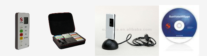 wireless voting device for conference and education