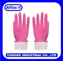Pink color home household gloves /garden latex gloves/Cleaning accessories
