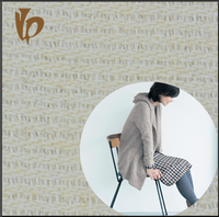 wool and linen blended weave fabric for garment and home textile