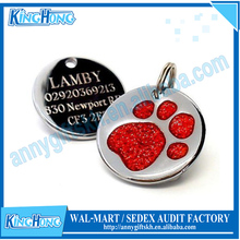 Stocked feature round blank custom shaped quick pet ID collars tags