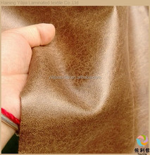 Haining 100% polyester textile leather fabric for sofa covering