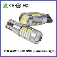 Free Error 700LM Car LED Lamp T10 W5W bulb socket Car Roof Clearance Light 10 PICS 5630 SMD Auto bulb 12V 24V YELLOW RED White