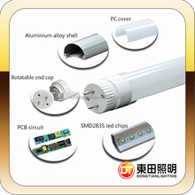 150lm/w Stable Performance smd2835 t8 led tube higher reliability By Dongtian brand for home or office DTR832NW&WW